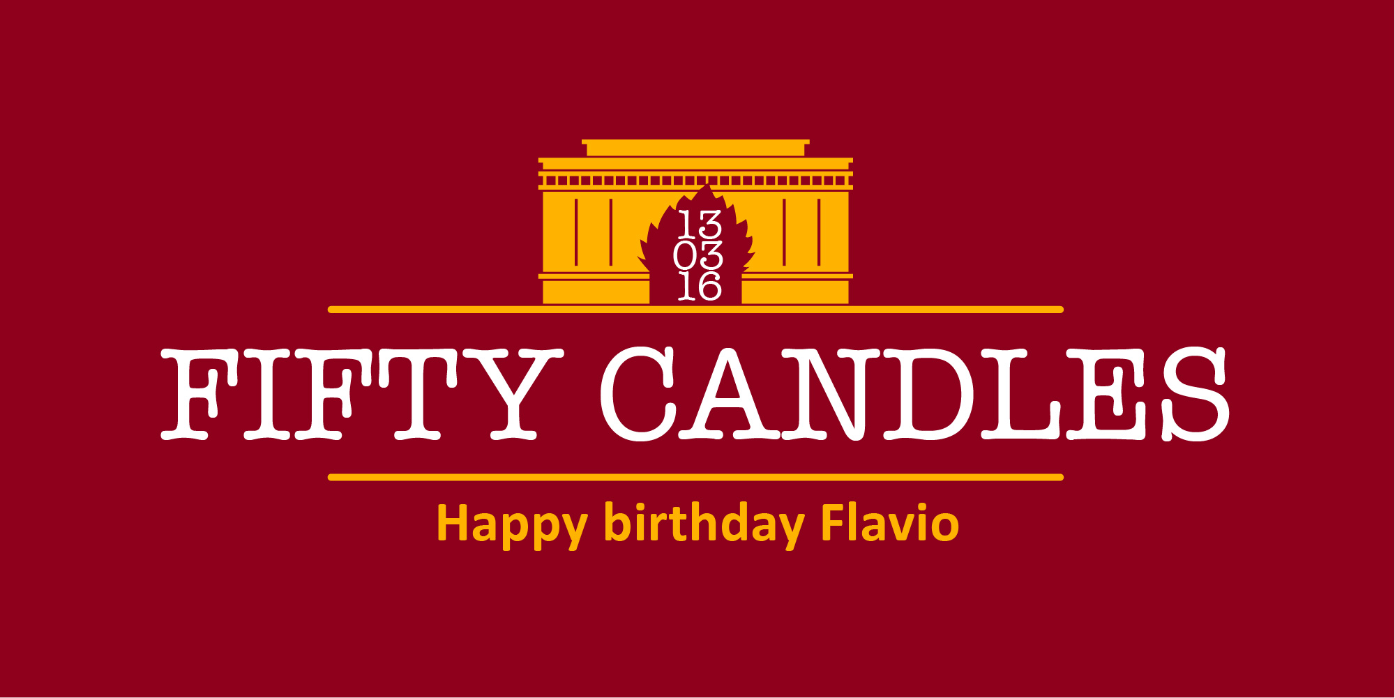 "Doodle ""50 anni Flavio"""