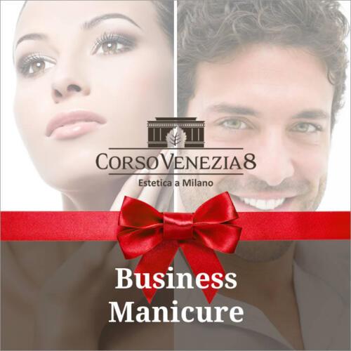 Business manicure donna e uomo
