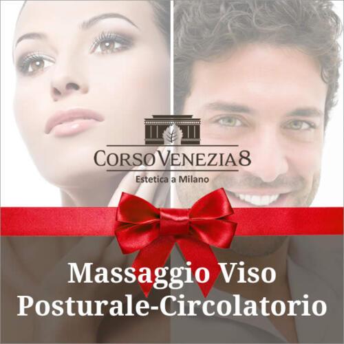 Massaggio viso posturale-circolatorio donna e uomo