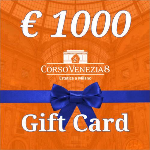 Gift Card Corso Venezia 8 del valore di €1000