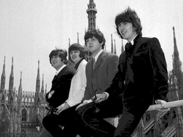 I Beatles sul Duomo di Milano