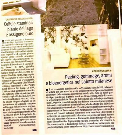 """Corso Venezia 8 sul quotidiano """"Il Giornale"""""""
