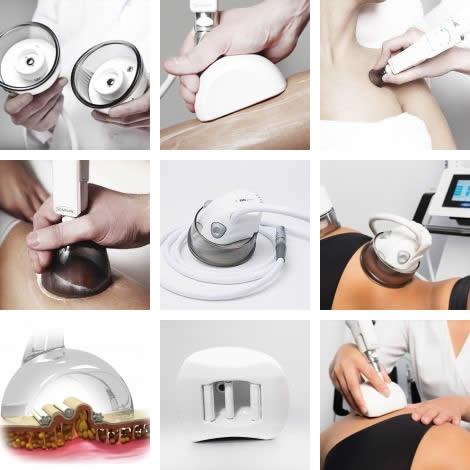 Varie fasi del trattamento cellulare viso e corpo